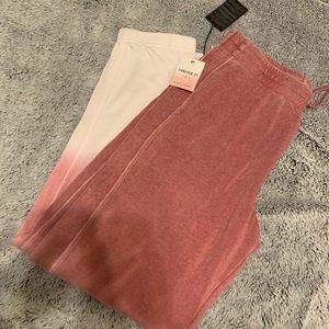 NWT Pink Ombré Sweats